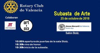 Subasta benéfica de cuadros de Rotary club Valencia en Ateneo de Valencia